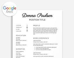 Teacher Resume Template Bundle 3x Teacher Resume Google Docs