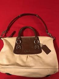 Authentic Coach F15445 Ashley Brown Leather Satchel Convertible Shoulder Bag    eBay