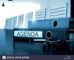 Agenda Office Agenda On Office Folder Toned Image Stock Photo 104401865 Alamy