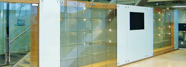 glass cabinet lighting. Cabinet Walls Comprised Of A Combination Glass Display Cabinets And Panels With Low Voltage Lightning Lighting $