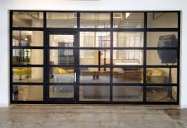 garage door with entry doorGlassPassingDoor  Full View Aluminum Glass Garage Door with