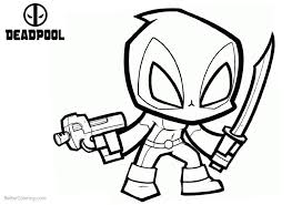 Chibi Deadpool Coloring Pages Barnes And Noble Books Book Spring