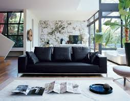 Of Living Rooms With Leather Furniture Modern Living Room Ideas With Black Leather Sofa Regarding Your