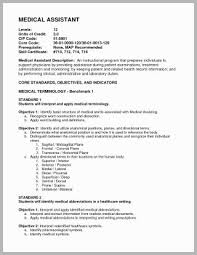 Example Of A Medical Assistant Resume Free Download