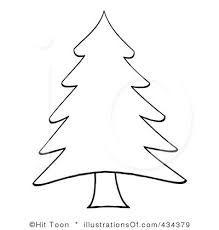 Christmas Tree Clipart Line Art  Pencil And In Color Christmas Christmas Tree Outline Clip Art