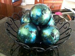 Decorative Glass Balls For Bowls decorative spheres from pier one I have these and they look great 8