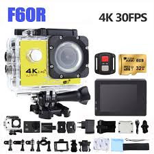 Action Camera 4k F60r Wifi Sports Extreme Mini Camera Recorder