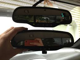 how to rearview mirror upgrade chevrolet colorado gmc canyon gentex 511 auto dimming mirror top original manual mirror bottom
