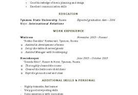 Resume Housekeeping Resumes Crew Membere Unforgettable Cover