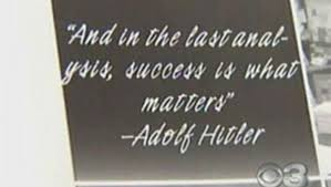 Quotes About High School Awesome Hitler Quote Printed In High School Yearbook CBS News
