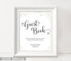 Wedding Guest Book Template Download Guest Book Sign Wedding Guest Book Sign Printable Guest
