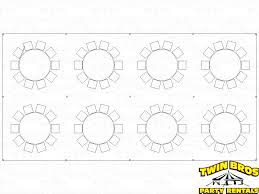 Round Table Seating Capacity 20x40 Pole Tent Layouts Pictures Diagrams Rentals