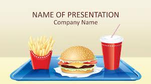 Free Food Powerpoint Templates Free Fast Food Art Powerpoint Template Designhooks