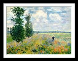 Tallenge - Claude Monet - Poppy Fields Near Argenteuil - Small Poster Paper  - Framed (12 x 17 inches) - Multi - Color: Amazon.in: Home & Kitchen