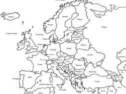 Us Map Editable Color The Map Of Europe By Tspeelman Teaching Resources Tes