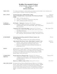Optician Resumes Examples Of A Cv Resume Cover Letter Examples South Sample Cover