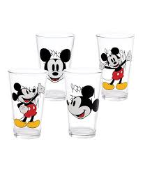 love this mickey mouse glass set of four