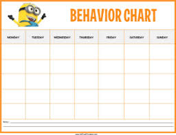 Behaviour Incentive Charts Download Free Minions Behaviour Chart Templates At With