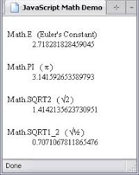 constants of the math property