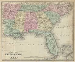 Image result for Map of the Southern United States