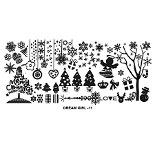 Christmas Stencil Designs Us 1 05 27 Off 1sheet Christmas Designs Nail Stamping Plates Snowflake Bells Stainless Steel Stencil Nails Decor Templates Records For Stemping In