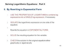 solving exponential and logarithmic equations worksheet kuta ...