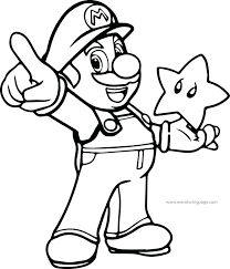 Printable Mario Coloring Pages Coloring Pages Free Galaxy Printable
