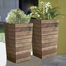 resin planter boxes. Exellent Boxes Coral Coast Dark Brown Stained Slatted Base Outdoor Planter 16 X Resin  Boxes And V