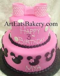 Cake Ideas For Mens 40th Birthday Two Tier Pink Fondant Creative