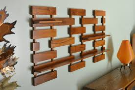 Mid Century Wall Decor Vintage Belart Co Wall Shelf Teak Wood Mid Century Modern My