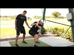 trx rip trainer backswing squat with golf pros trevor anderson and tim burke you
