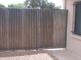 corrugated metal fence. Interesting Fence Corrugated Steel Fence With Single Gate  CF205 Throughout Metal