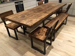 industrial dining table. Steel And Wood Dining Table For Charming Industrial Kitchen Furniture 4 Custom Made Decor 19