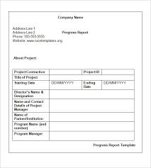 Project Progress Report Sample Weekly Status Report Format 1 Random Project Progress Sample