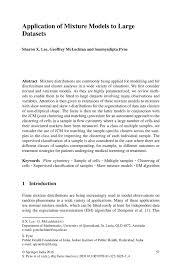 application of mixture models to large datasets springer inside
