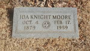 Ida Elizabeth Knight Moore (1879-1959) - Find A Grave Memorial