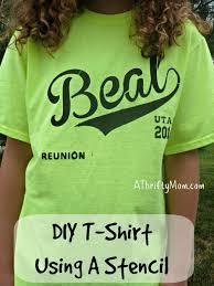 diy t shirt using a stencil