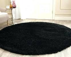 circle rug round rug thick pile black rug s gy round rugs circle rug