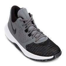 Tênis Nike Air Precision II Masculino - Cinza e Preto