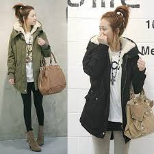 women s korean style hood overcoat long jacket winter