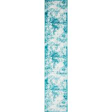 unique loom unique loom larvotto sofia 3 ft 3 x 16 ft 5 turquoise