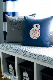 Star Wars Big Boy Room- Little Bits of Home. Pillows from Zigzagz Embroidery