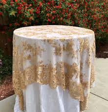 round linen tablecloths beautiful gold embroidered lace table runner gold tablecloth table overlay