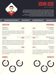 Royalty Free Vector 14449145 New Cv Resume Template In Red And Dark Gray