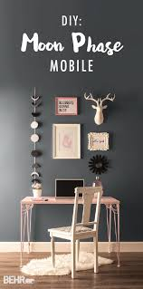 home office dark blue gallery wall. add some dreamy wall art to your home office and revamp desk with a gallery dark blue