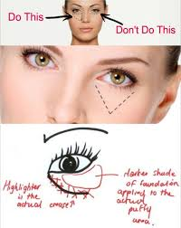 makeup tips disguising under eye bags