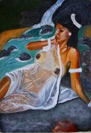 rain and wet white saree painings of indian women white saree and krishna