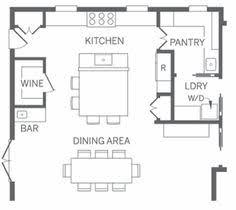 kitchen floor plans with walk in pantry australia