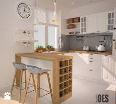 Aranacje wntrz - Kuchnia: Maa kuchnia, styl skandynawski - OES  architekci. Przegldaj,. Small Open KitchensArchitekciWall ...