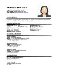 sample resume format for a resume sample of your resume 6 resume format and sample